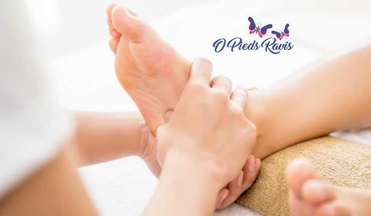 Massage hydratant des pieds